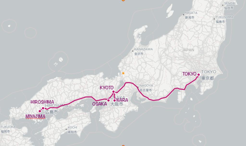 Itinéraire voyage 3 semaines Japon
